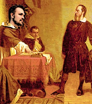 -PD-US, adapted from <em>Galileo facing the Roman Inquisition</em>, by Cristiano Banti