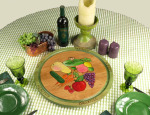 Fruits and vegetables lazy susan