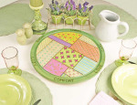 Country quilt lazy susan