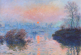 -PD-US, Monet, Sunset on the Seine at Lavacourt