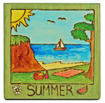 Summer plaque