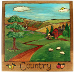 Country plaque