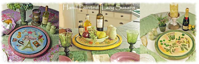 hand painted lazy susans