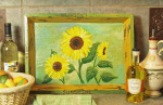 Sunflowers  tray